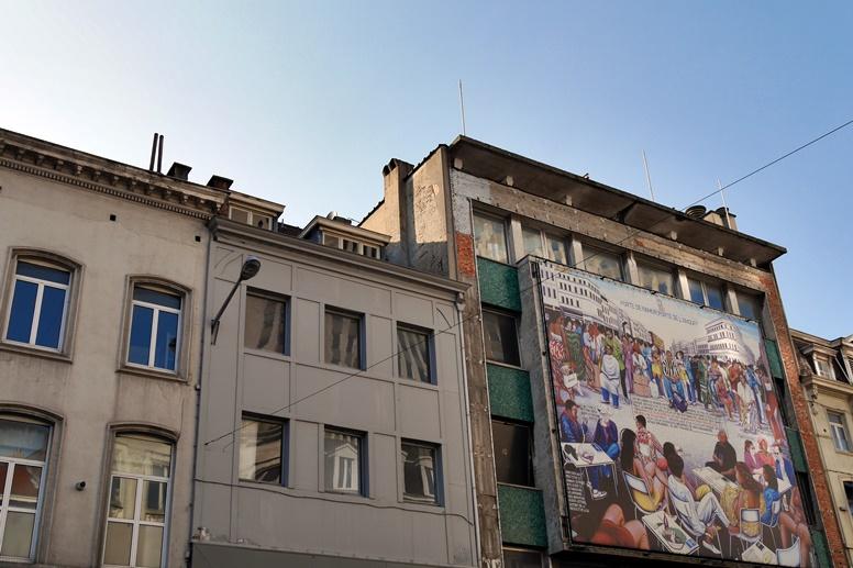 Werbung in Matongé in Brüssel