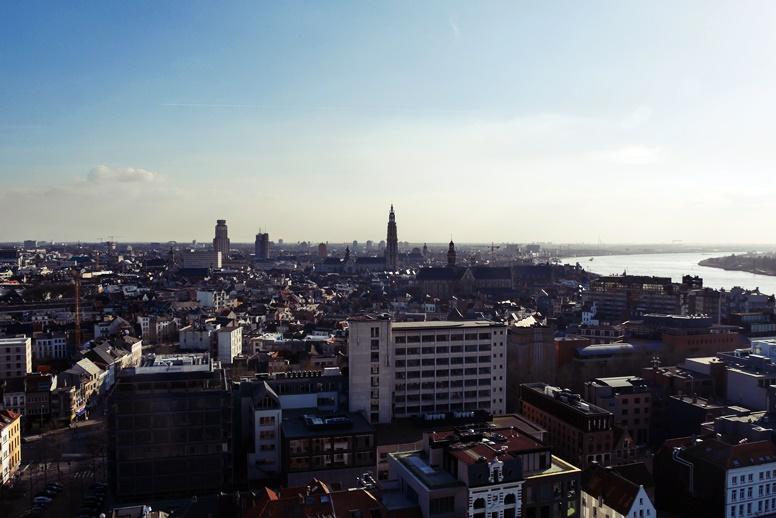 Aussicht von dem Antwerpener Museum MAS