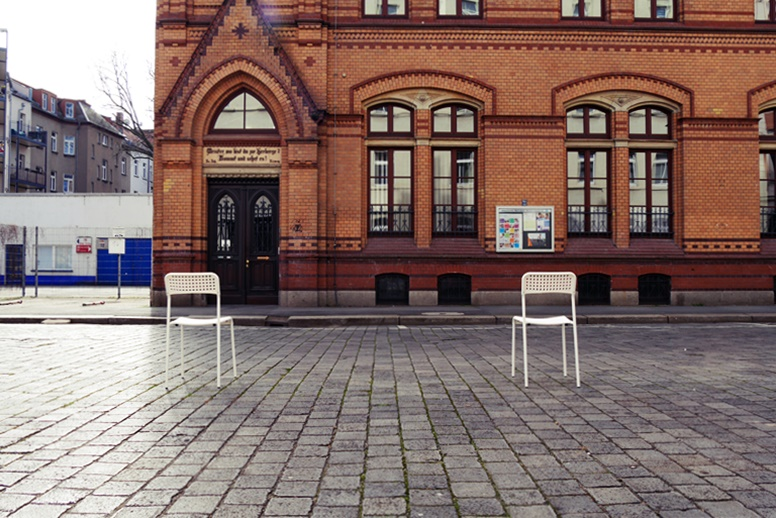 Straßenszene in Leipzig