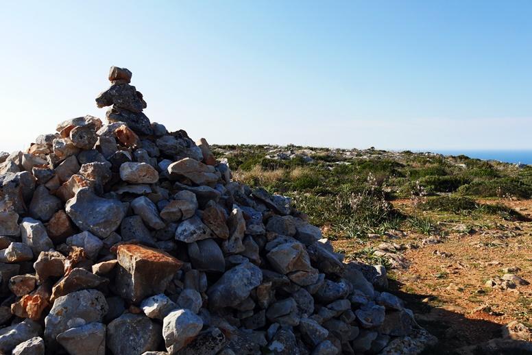 Steinhaufen auf der 1.Etappe des GR221