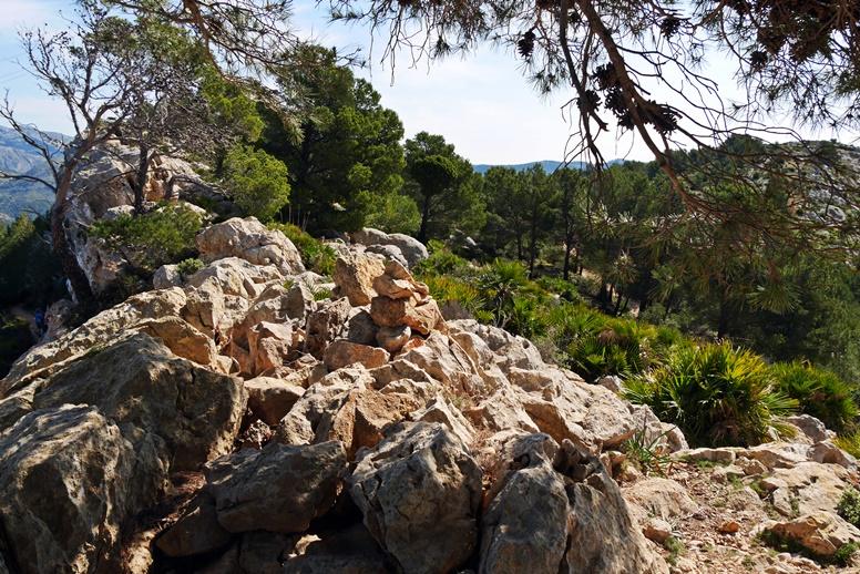 Steinmännchen auf der 1.Etappe des GR221