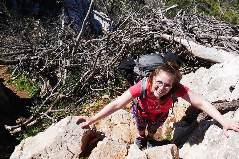 Wanderin auf dem GR221 auf Mallorca