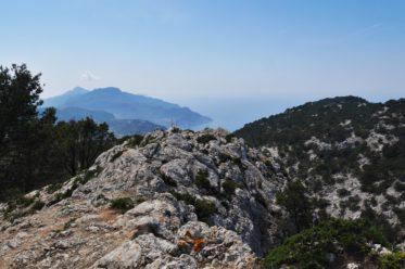 Aussicht über die Küste von Mallorca auf dem Reitweg auf der 4.Etappe des GR221