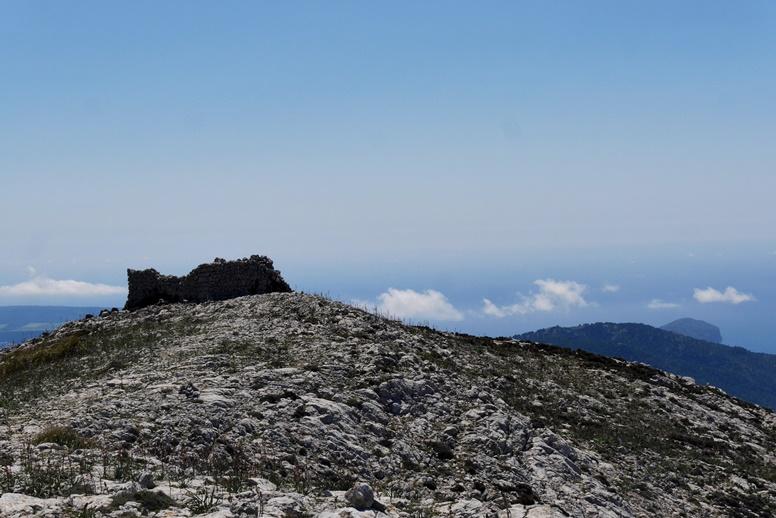Gipfel des Mola de s´Escalop auf der 2.Etappe des GR221