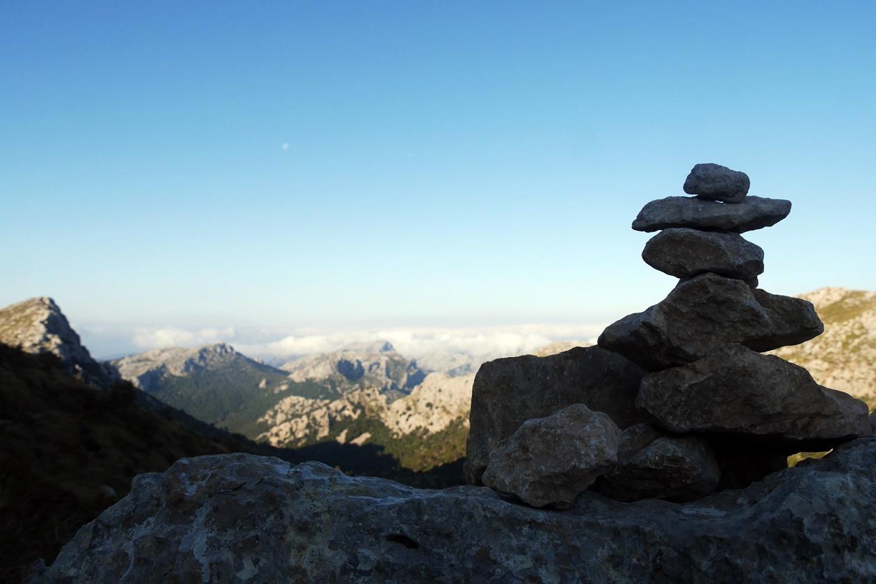 Steinmännchen auf der 6.Etappe des GR221