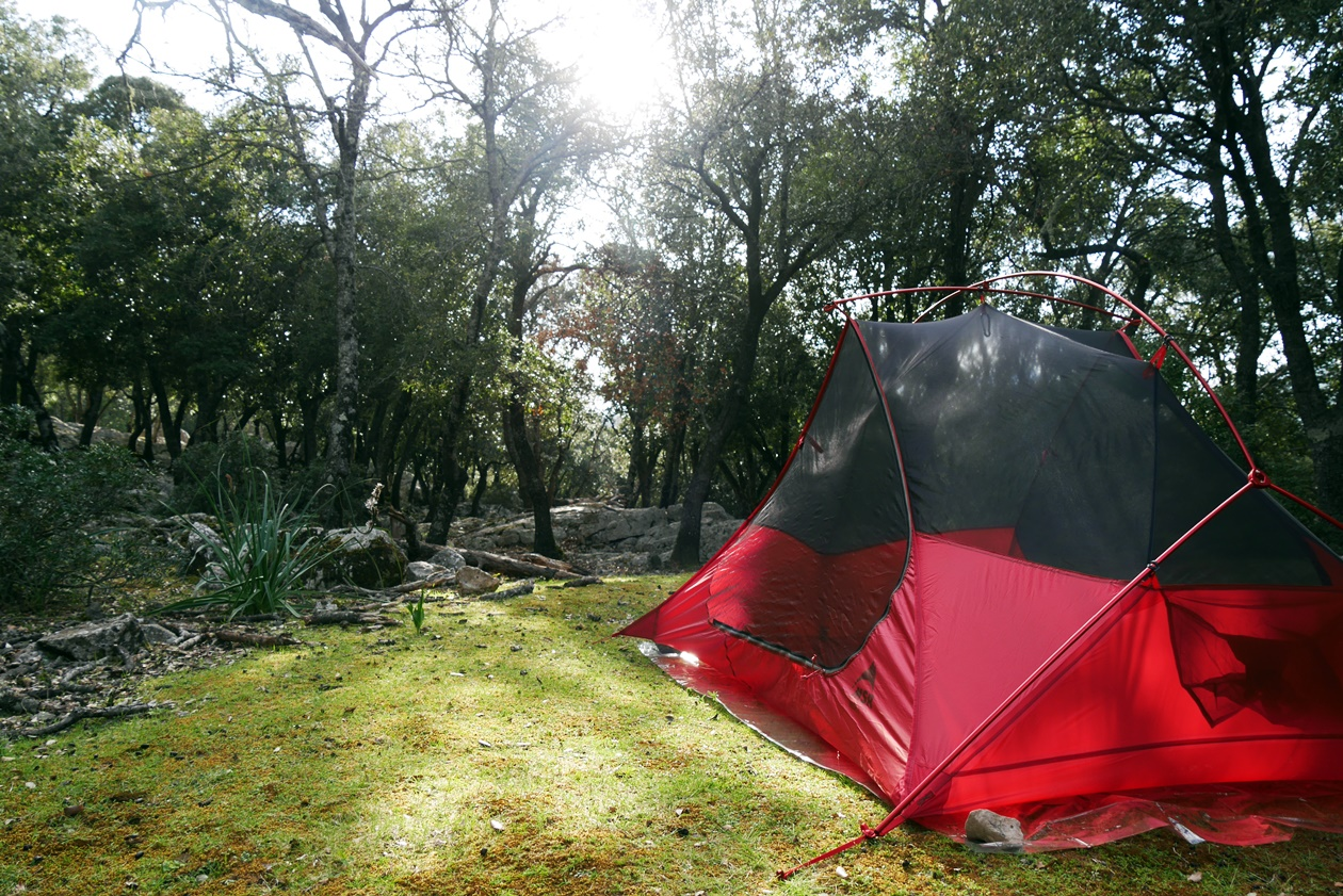 Unser Zeltplatz auf der 6.Etappe des GR221