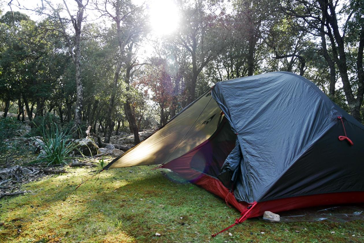 Unser Zeltplatz am Morgen der 7.Etappe des GR221