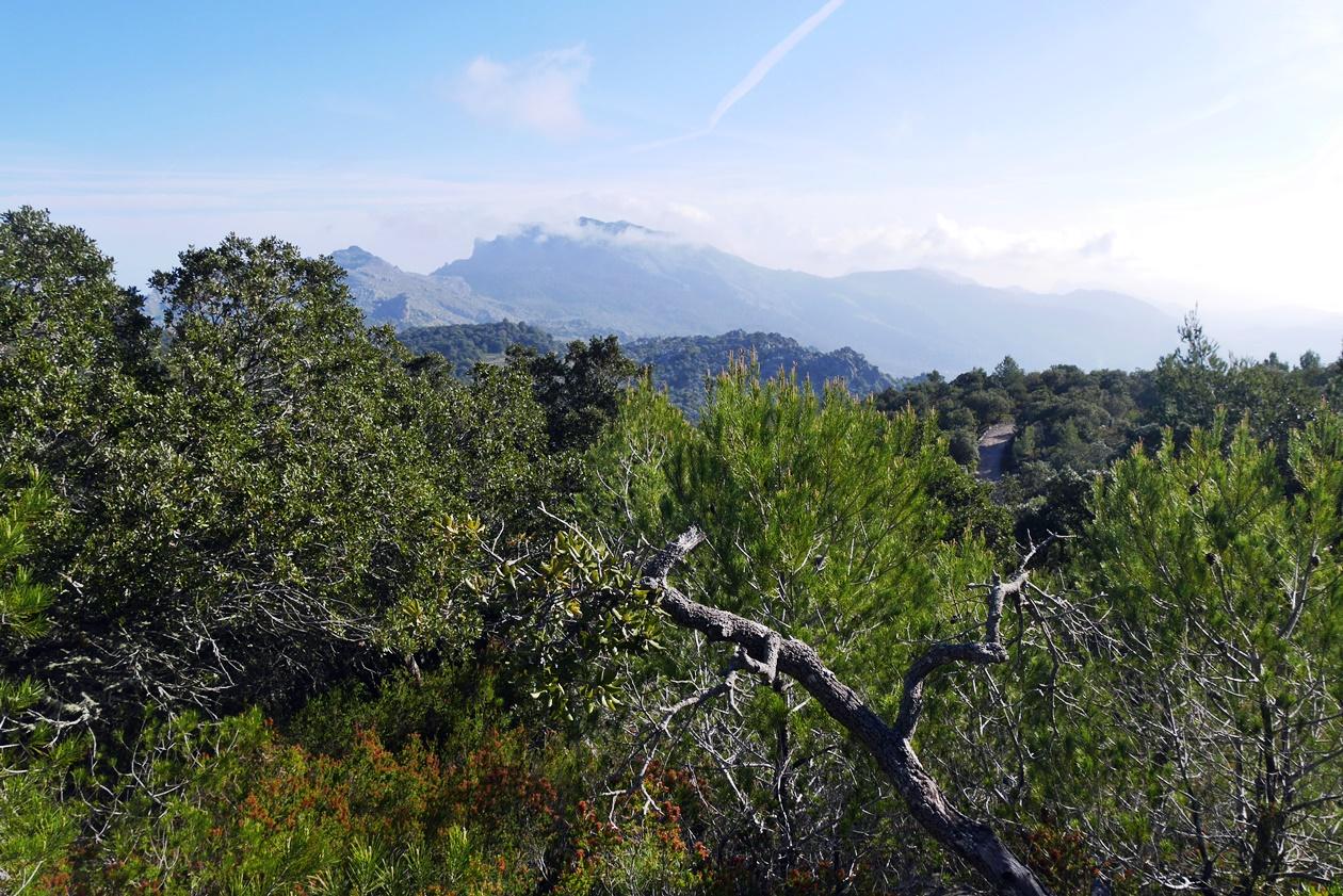 Aussicht auf die Berge auf der 7.Etappe des GR221