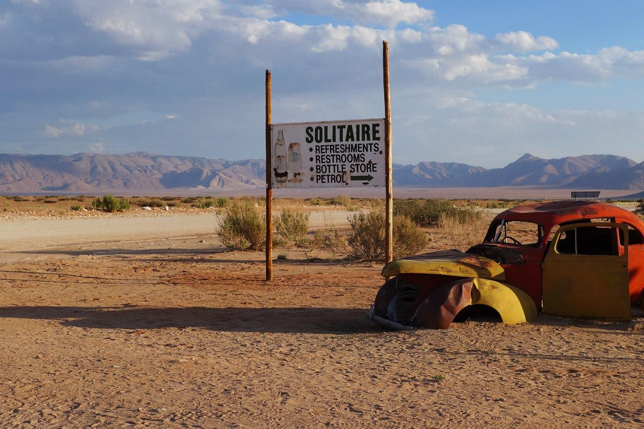 Solitaire auf einer Gruppenreise vs. Individualreise in Namibia