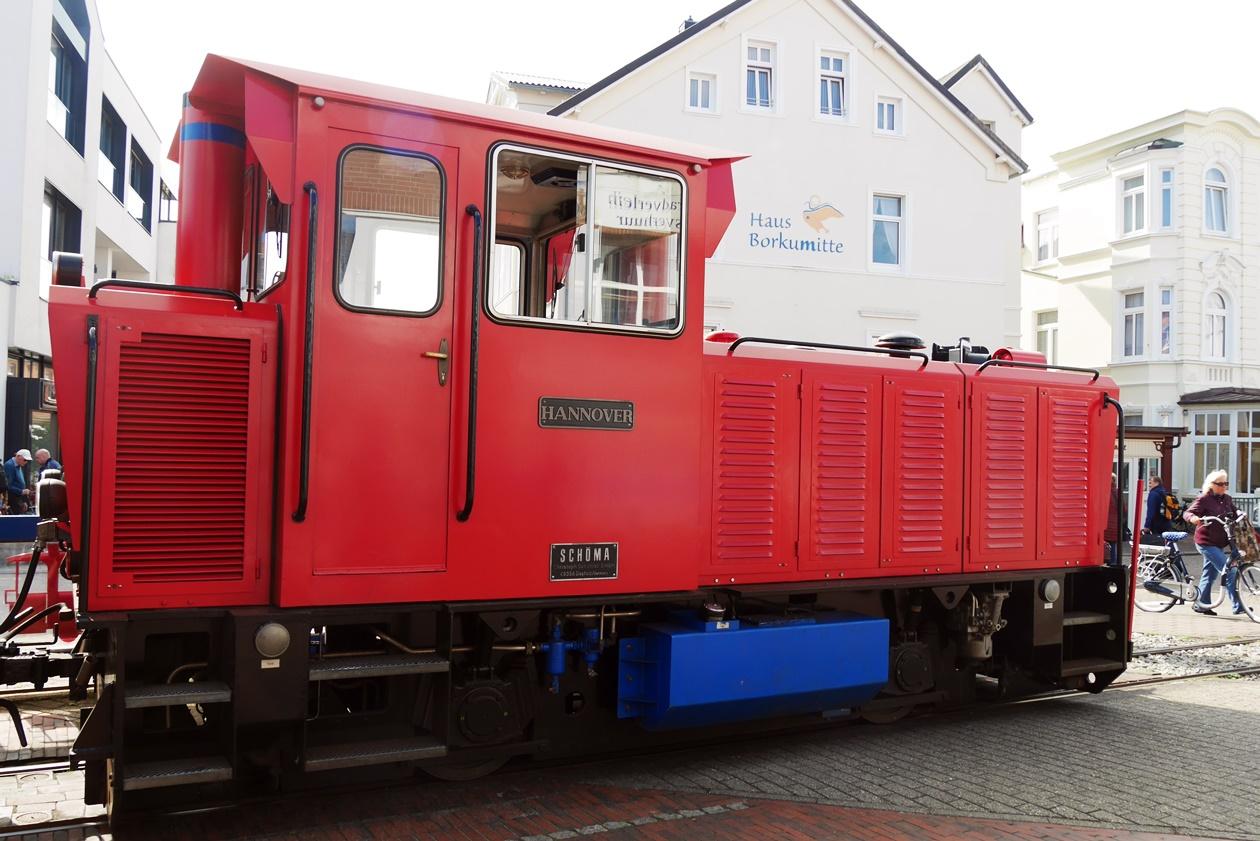 Eisenbahn auf Borkum beim Urlaub mit Oma