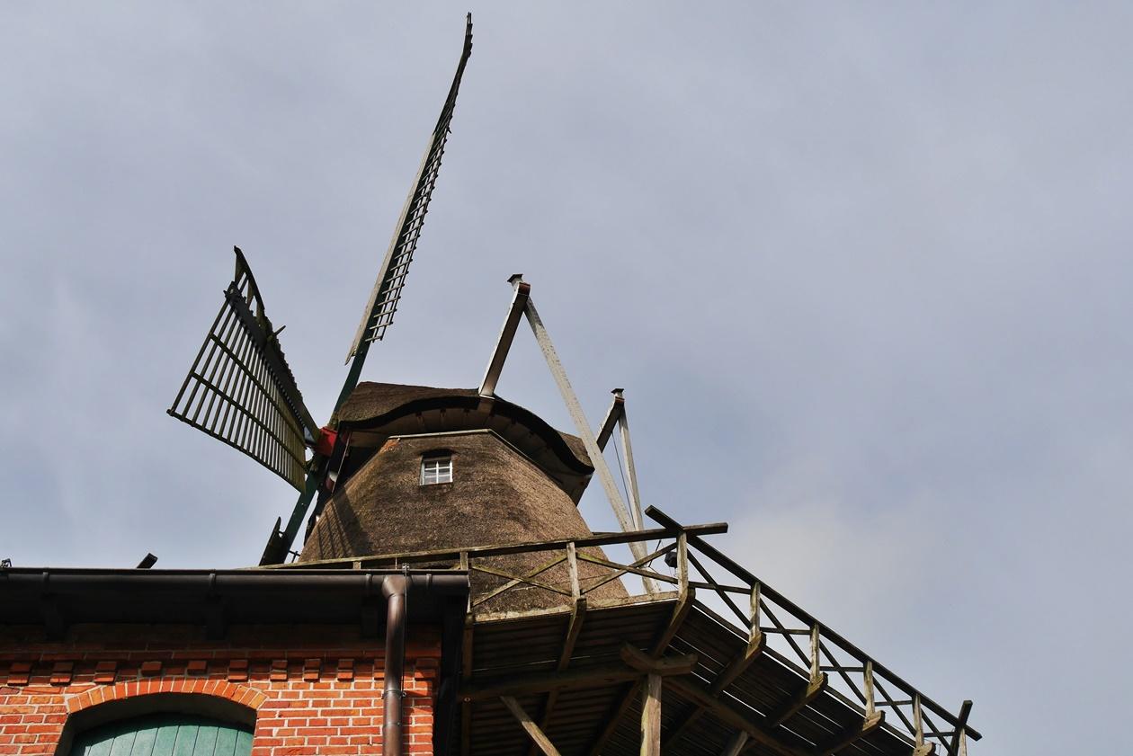 Mühle in Hinte beim Urlaub mit Oma
