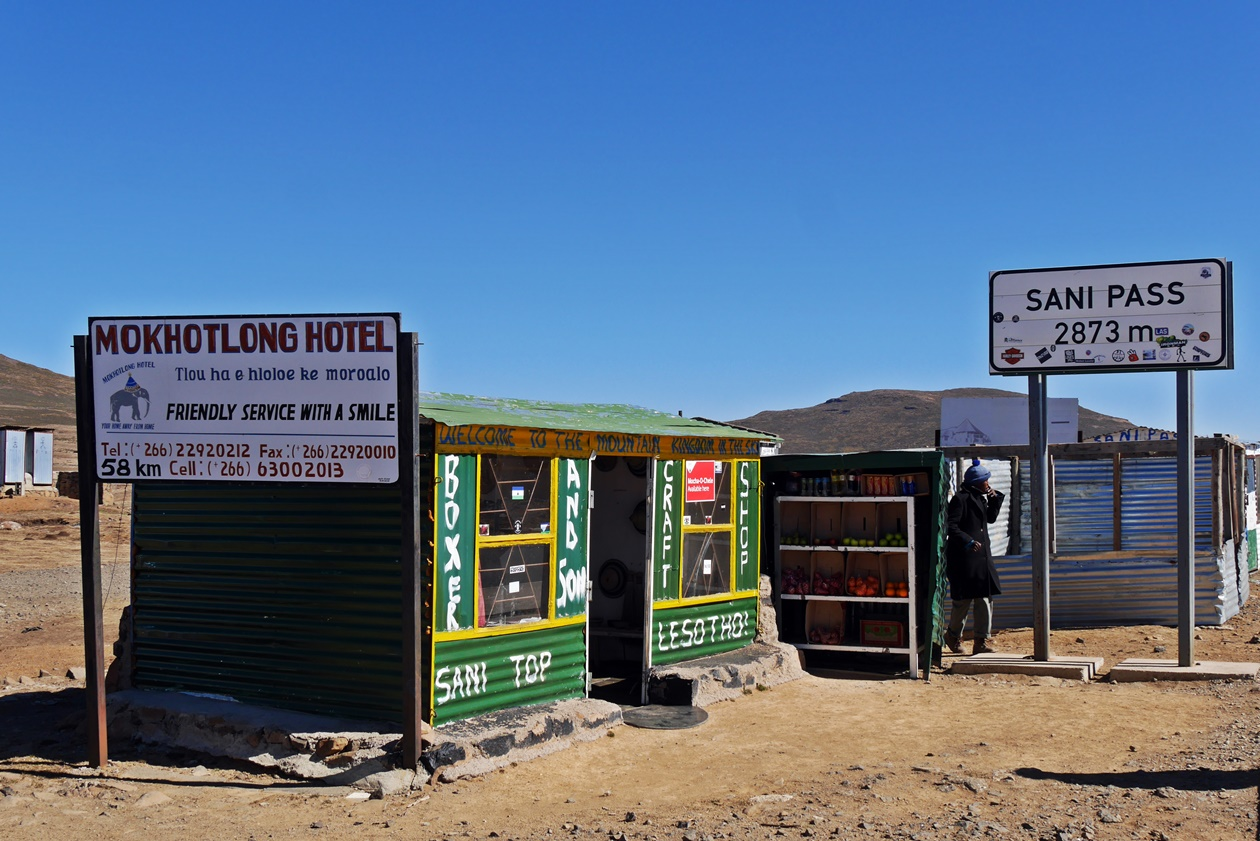 Gebäude am Sani Pass in Lesotho