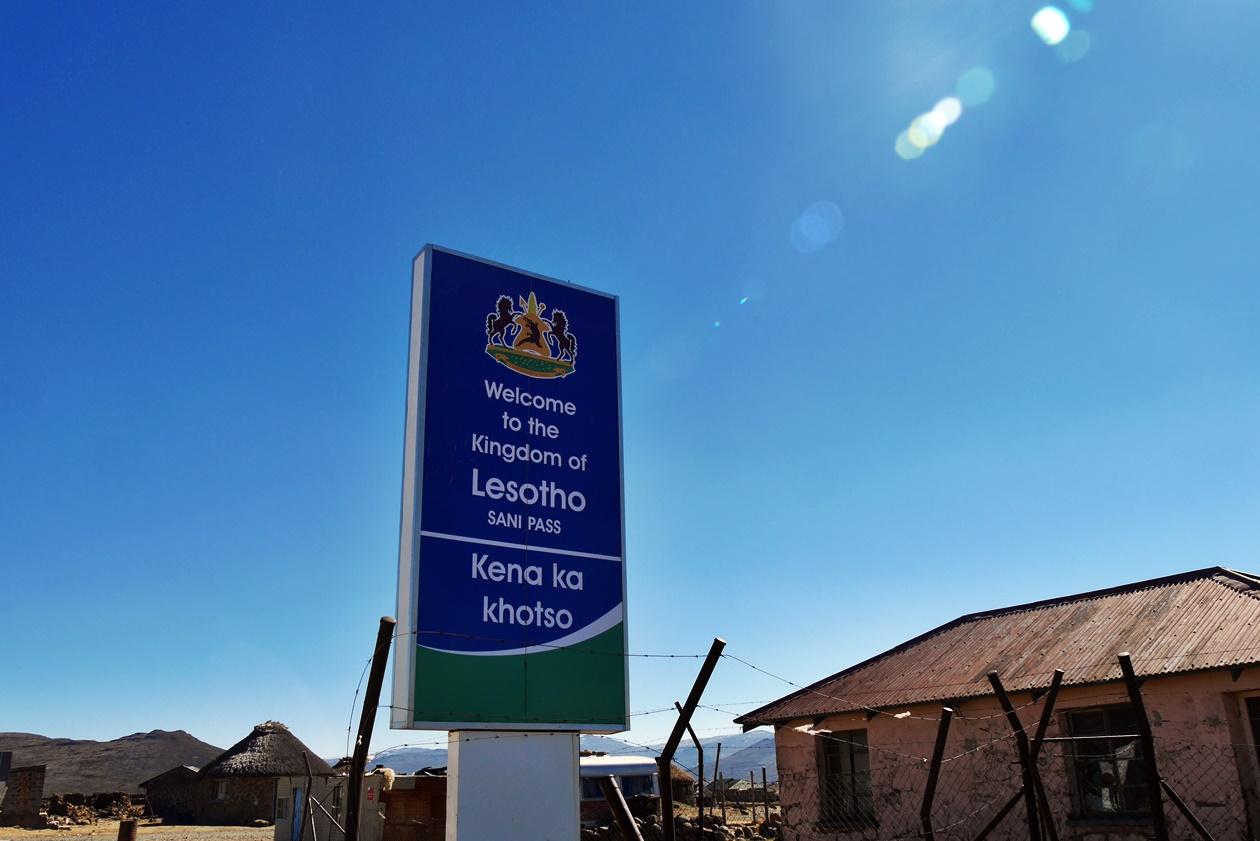 Grenze zu Lesotho am Sani Pass