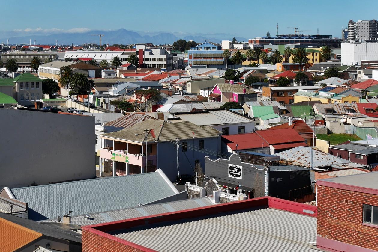 Sicht auf den Stadtteil Woodstock in meiner zweiten Praktikumswoche in Kapstadt