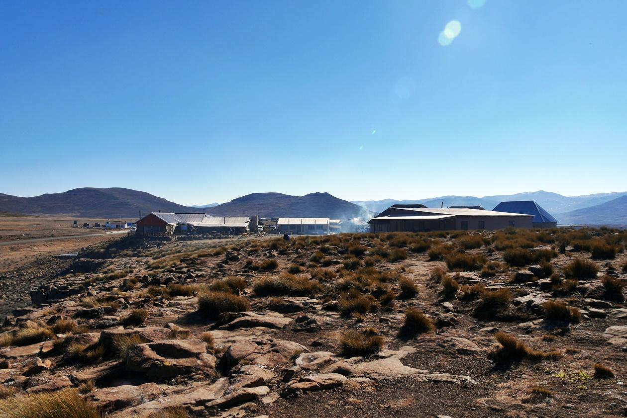 Der höchste Pub Afrikas am Sani Pass in Lesotho