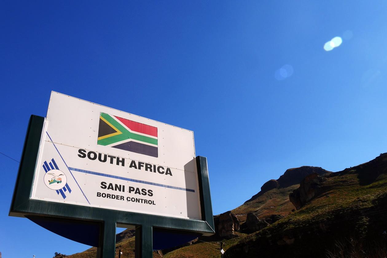 Südafrikanischer Grenzposten am Sani Pass