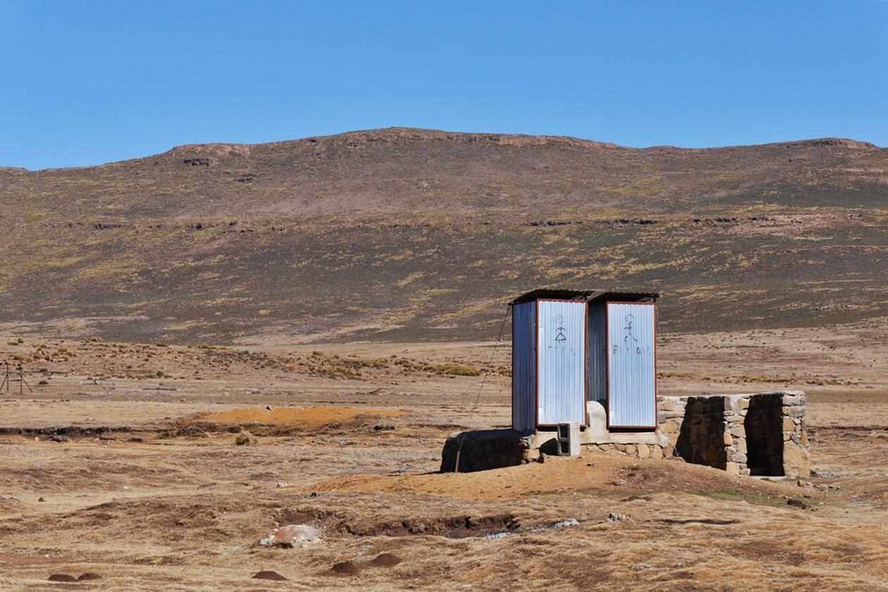 Toilettengebäude am Sani Pass in Lesotho