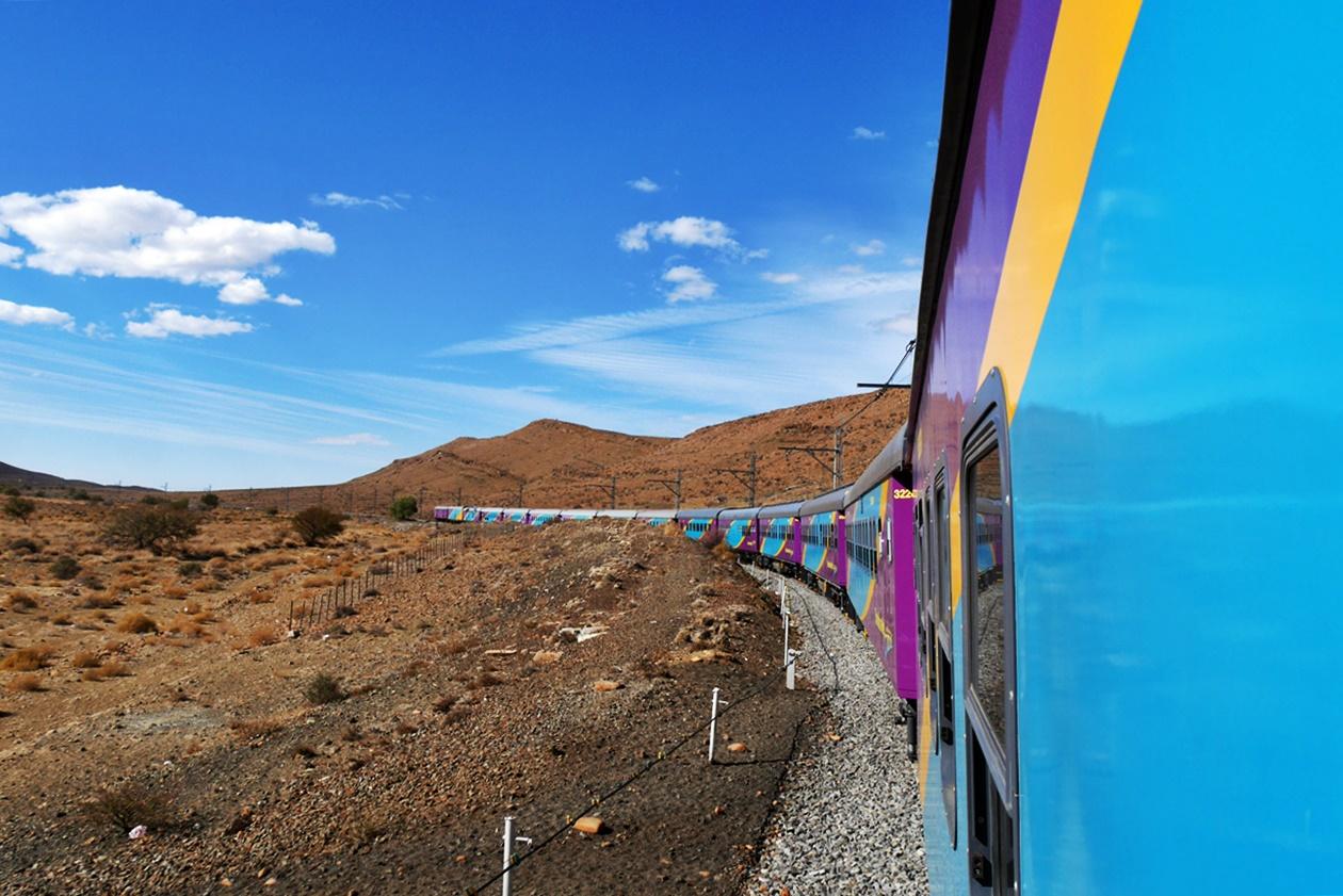 Mit Shosholoza Meyl von Johannesburg nach Kapstadt Ansicht Zug