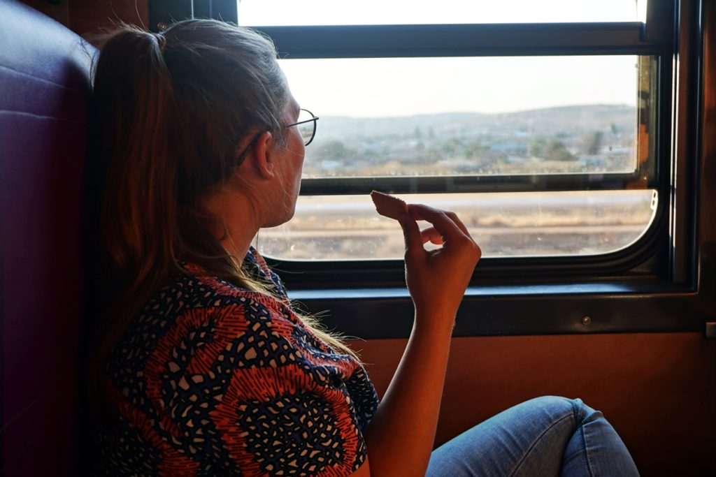 Mit dem Shosholoza Meyl von Johannesburg nach Kapstadt, Blick aus dem Fenster