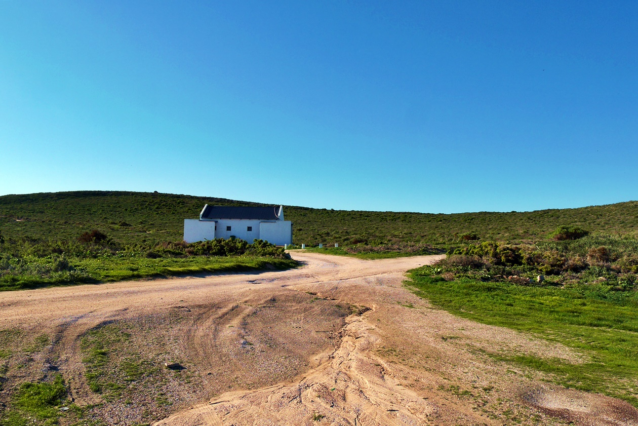 Häuschen im Cape Columbine Nature Reserve auf unserem Wochenendausflug von Kapstadt