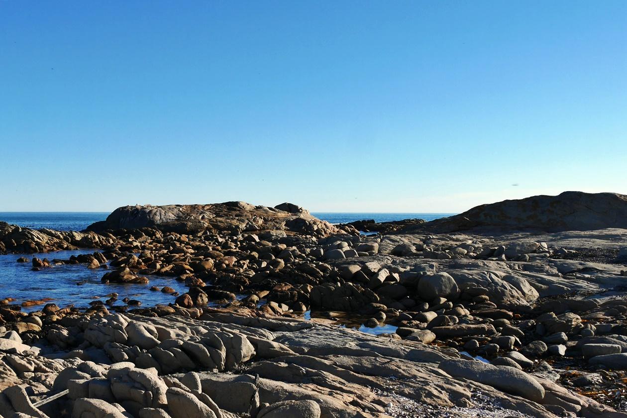 Küste im Cape Columbine Nature Reserve auf unserem Wochenendausflug von Kapstadt