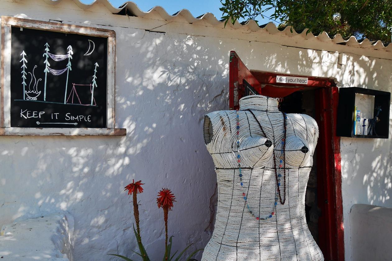 Dekoration in einem Café in Paternoster bei unserem Wochenendausflug von Kapstadt
