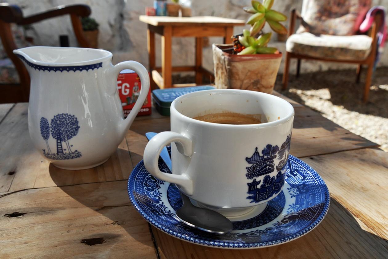 Kaffeegedeck in Paternoster bei unserem Wochenendausflug von Kapstadt