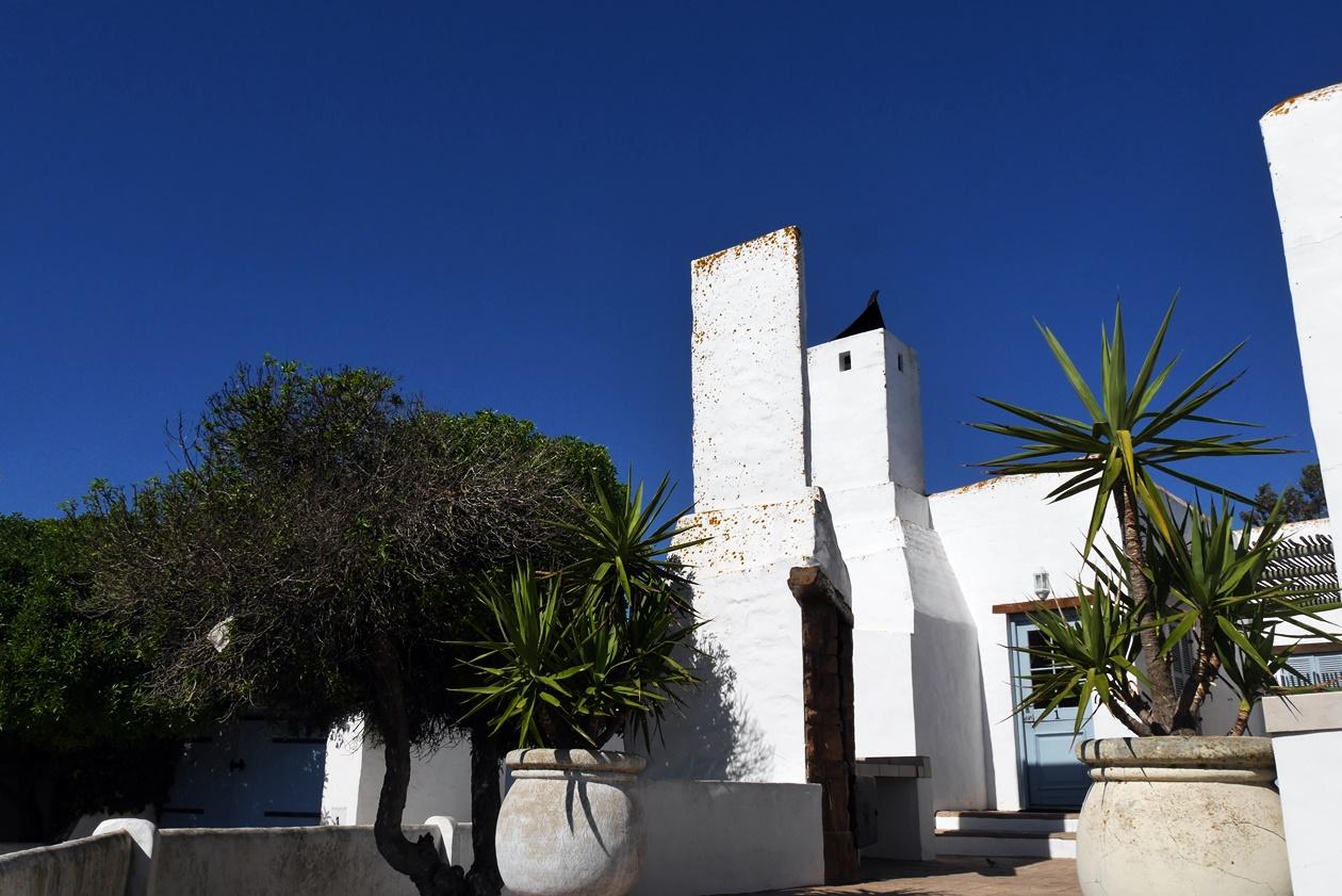 Weißes Haus in Paternoster auf unserem Wochenendausflug von Kapstadt