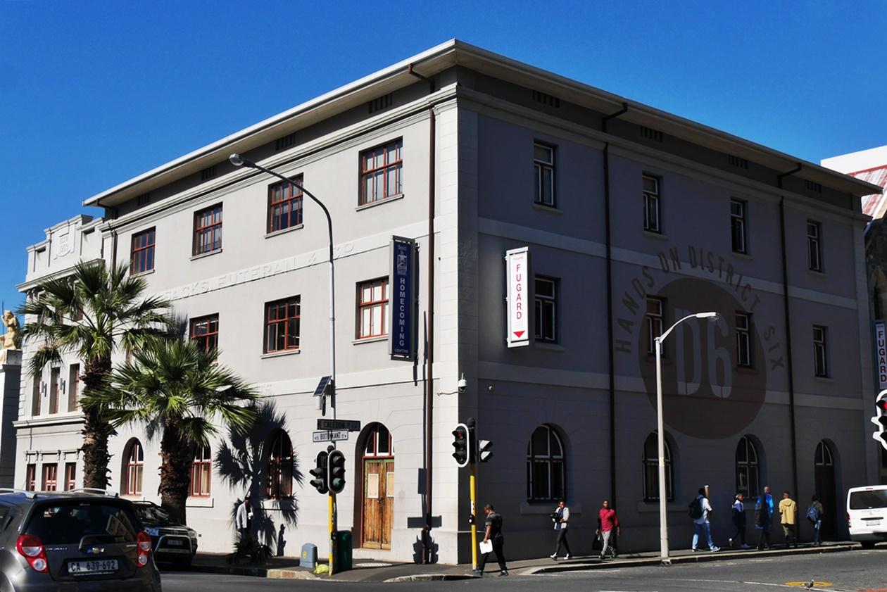 Gebäude im ehemaligen District Six, eine von Kapstadts Communities
