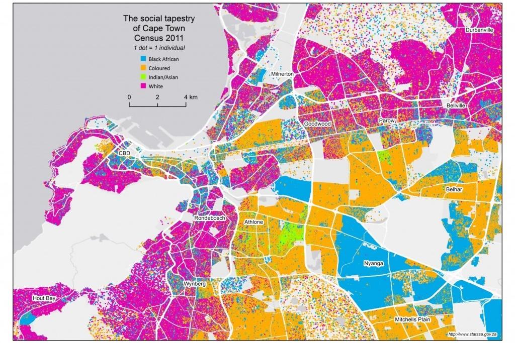 Übersicht über die verschiedenen Zugehörigkeiten zu Kapstadts Communities