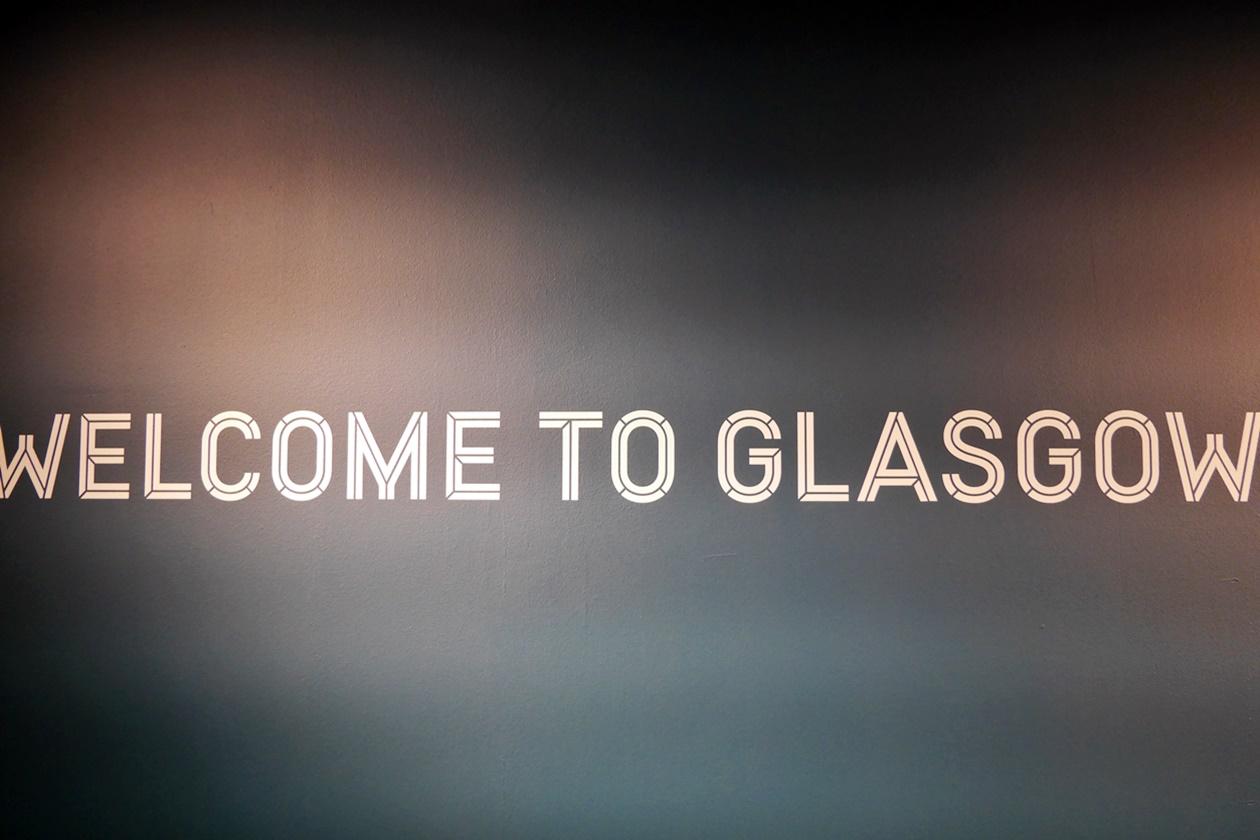 Willkommen in Glasgow Schild