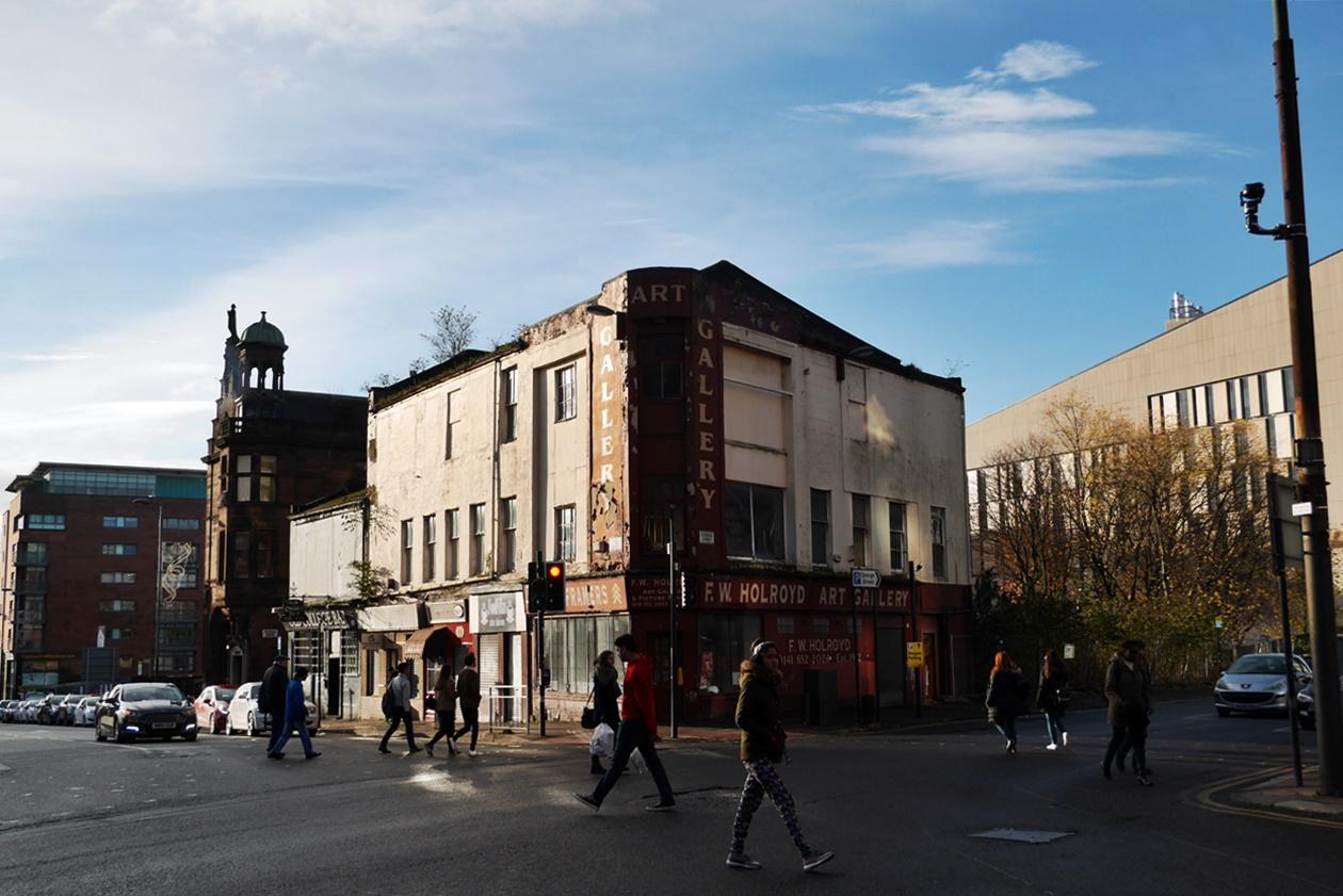 Straßenszene in Glasgow
