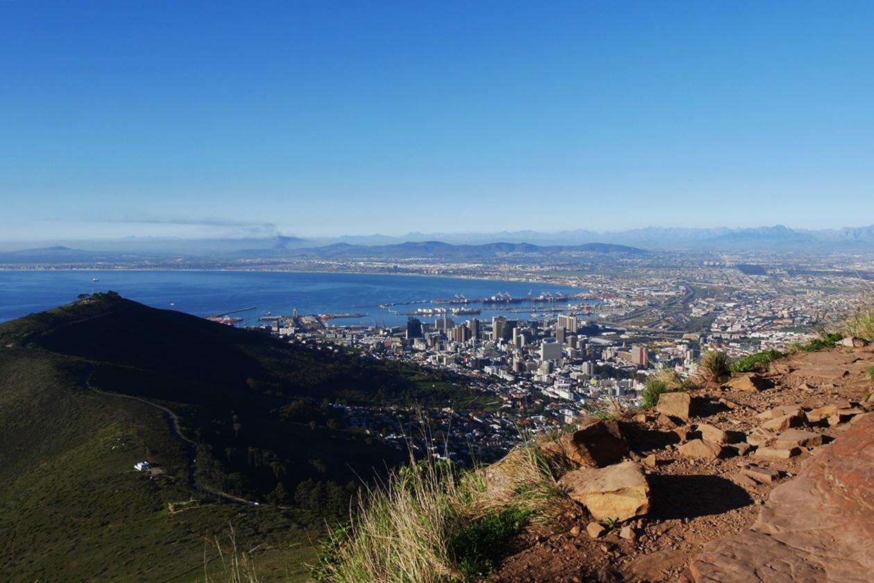 Wanderung auf den Lions Head am Wochenende in Kapstadt