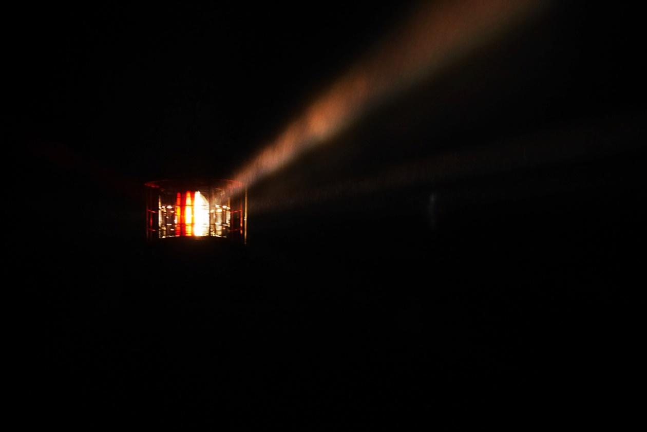 Licht des Dornbusch Leuchtturms auf Hiddensee