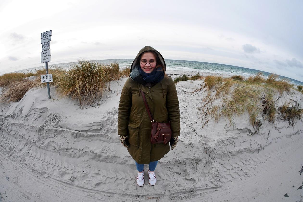 Lynn am Strand von Hiddensee
