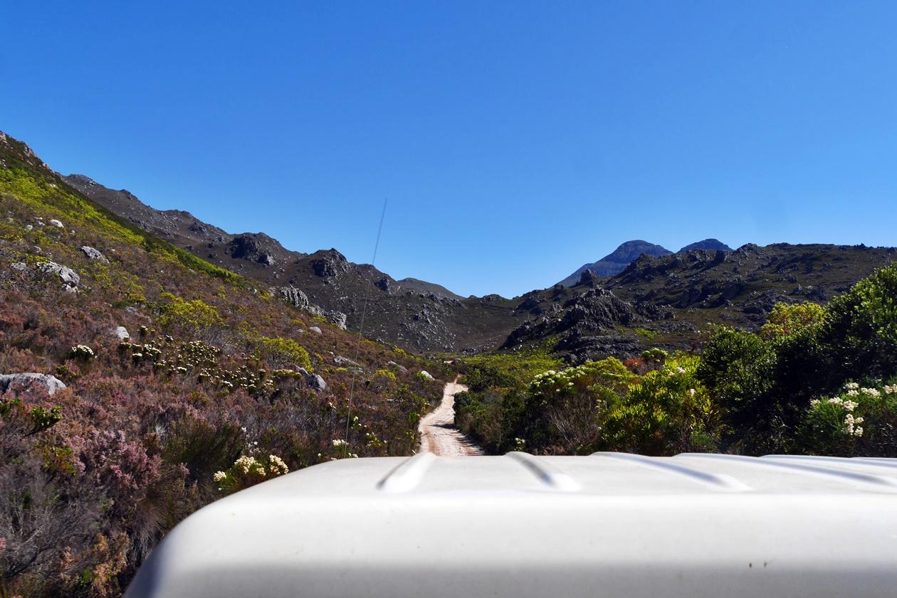 Offroad Weg, der bei der Cape Canopy Tour gefahren wird