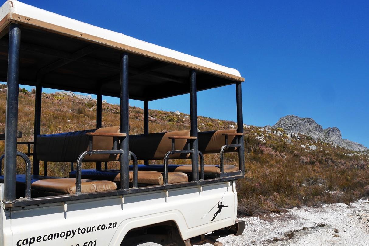 4x4-Fahrzeug der Cape Canopy Tour