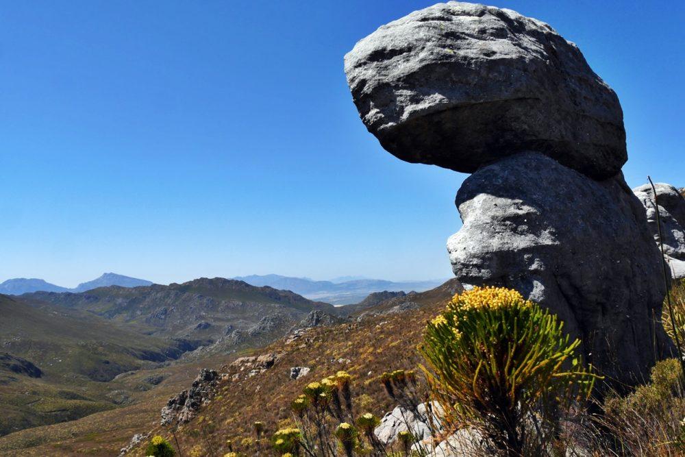 Felsformation, die man auf der Cape Canopy Tour sieht