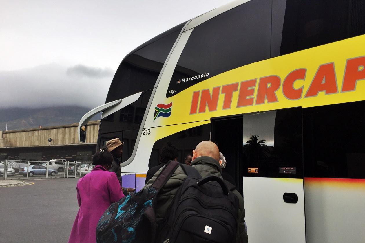 Bus Station in Kapstadt mit dem Intercape Bus von Kapstadt nach Windhoek