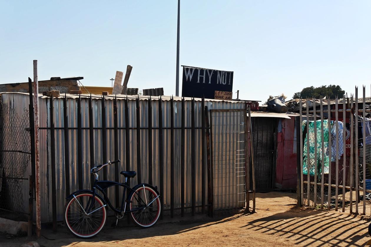 Fahrrad in Soweto auf den Fahrradttouren von Lebo´s Backpackers