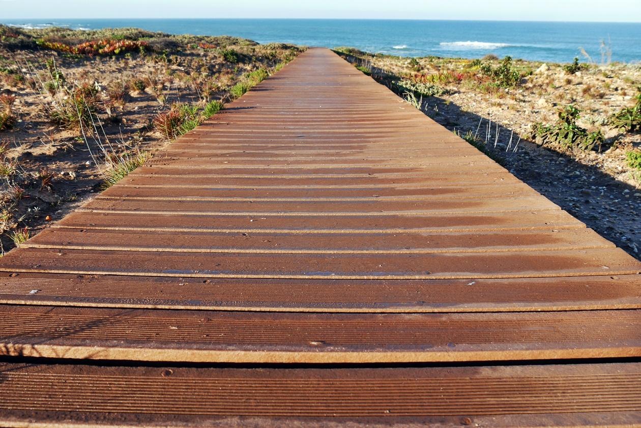 Weg beim Wandern auf der Rota Vicentina