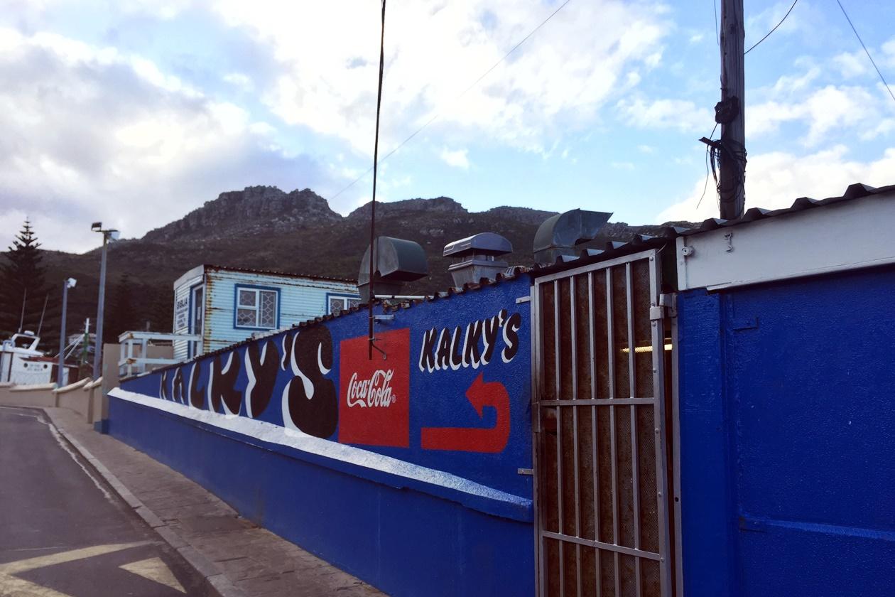 Eingang zum Restaurant Kalky´s in Kalk Bay, Südafrika