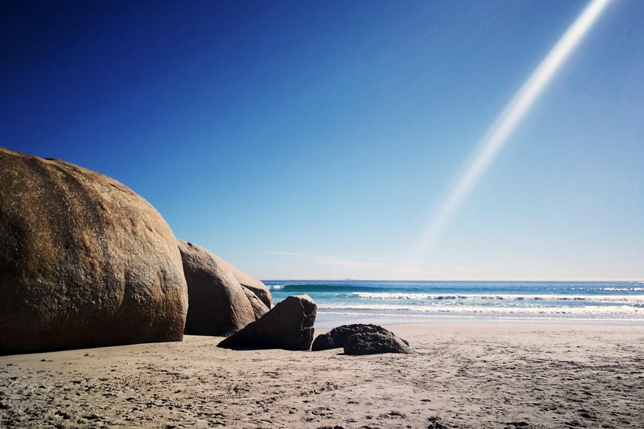 Der Strand von Lladudno in Kapstadt