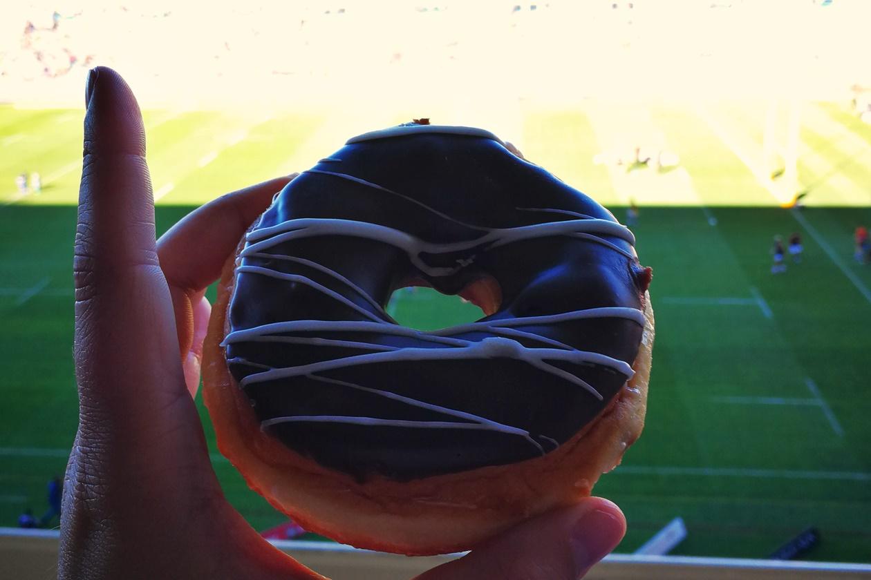 Donut bei einem Rugbygame der Stormers in Kapstadt
