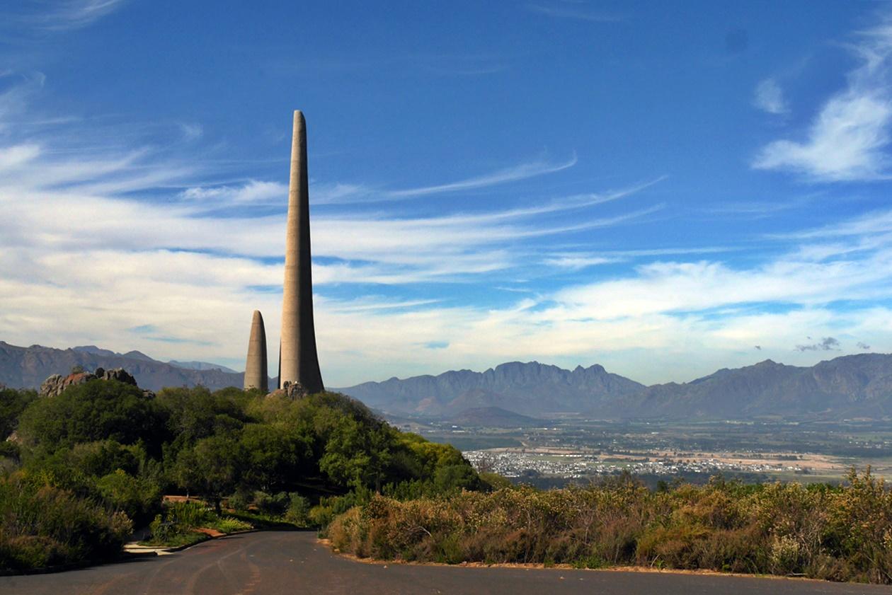 Afrikaanse Taalmonument bei Paarl in der Nähe von Kapstadt