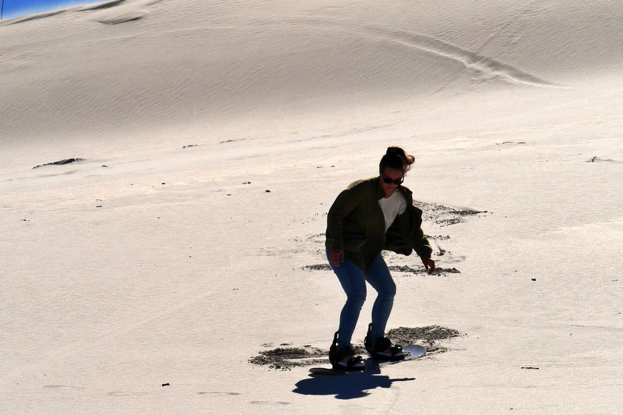 Sandboarding in den Atlantic Dunes bei Kapstadt