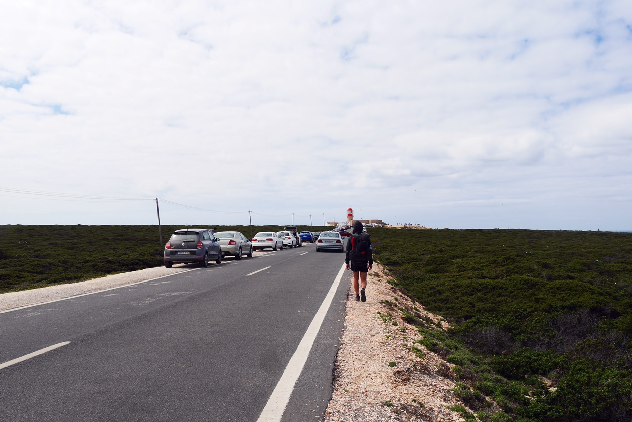 Straße zum Cabo de Sao Vicente in Portugal