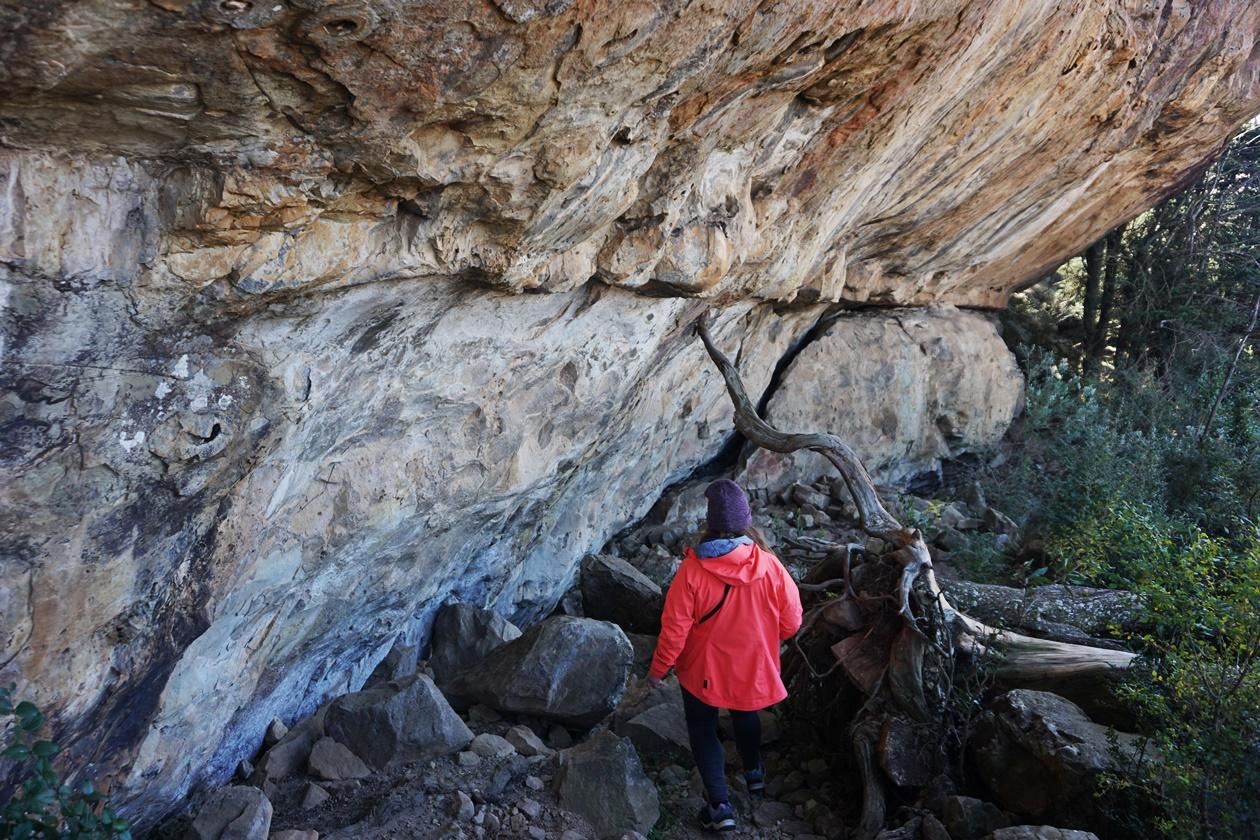 Zeichnungen der San auf dem Gelände der Greenfire Drakensberge Lodge