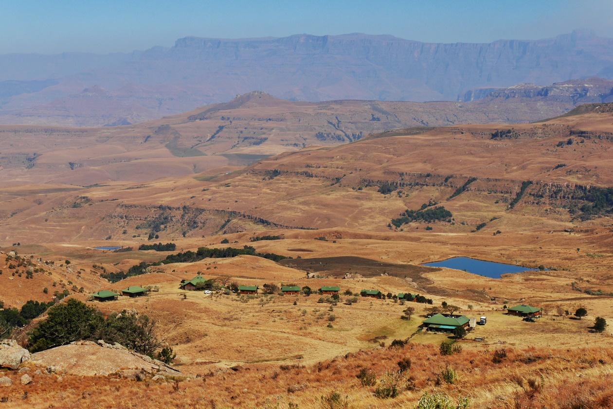 Blick auf die Greenfire Drakensberge Lodge