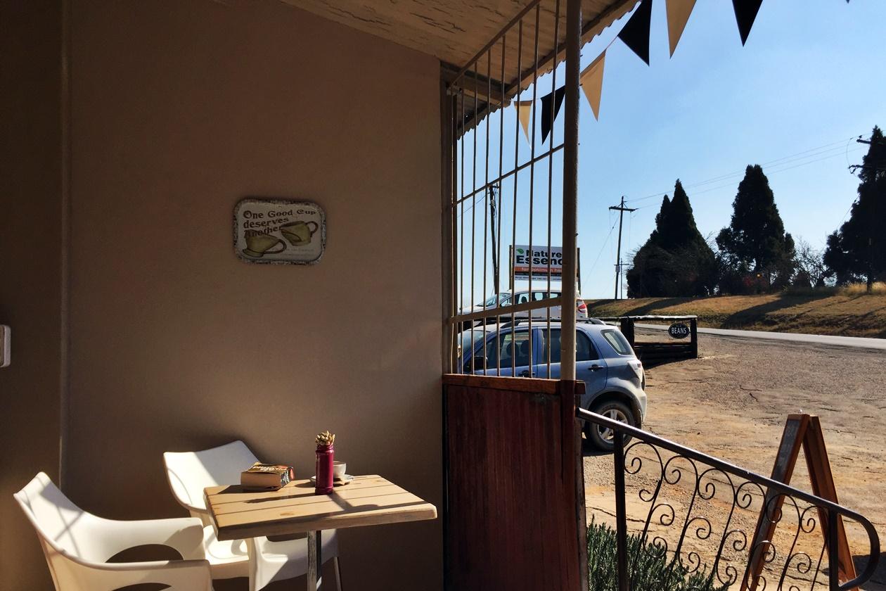 Café in der Nähe von Howick in Südafrika